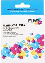 FLWR - Inktcartridge / LC-3219XLY / Geel - Geschikt voor Brother
