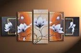 Magnolia 4 - 5 delig canvas 150x70cm Handgeschilderd