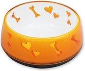 All for paws Voerbak puppy love met patroon 300ml - geel/wit