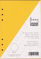 A5 voor o.a. Succes, Filofax en Kalpa Planners 200 Pag. 200 g/m² Blanco 5 Kleuren 120 g/m² Karton