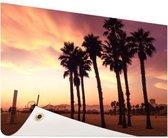 Santa Monica Beach LA Tuinposter 120x80 cm - Tuindoek / Buitencanvas / Schilderijen voor buiten (tuin decoratie)
