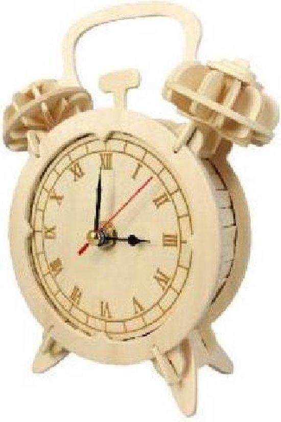 Bouwpakket 3D Puzzel Wekker-Klok