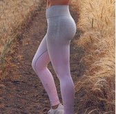 Yoga legging - compressie met hoge taille - Grijs Roze - M - Loungewear yoga Pants NewAgeDevi | Fitness | Yoga | Workout | Yoga Broek |