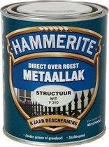 Hammerite Metaallak - Structuur - Wit - 750 ml