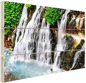 Watervallen in Azie  Hout 30x20 cm - klein - Foto print op Hout (Wanddecoratie)