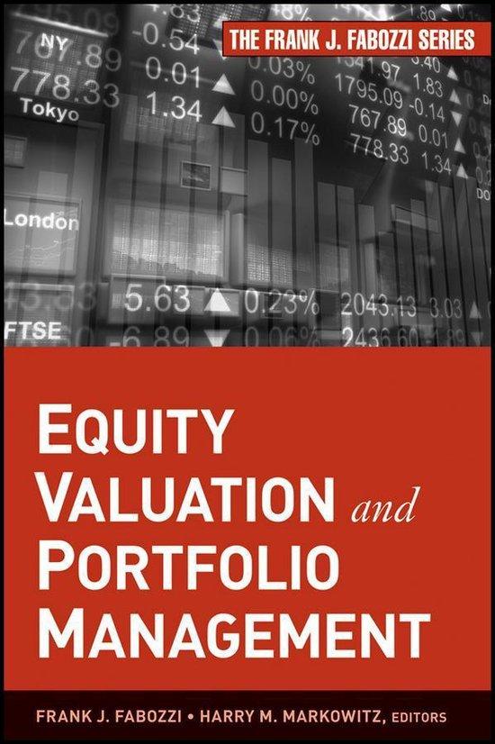 Boek cover Equity Valuation and Portfolio Management van Harry M. Markowitz (Onbekend)