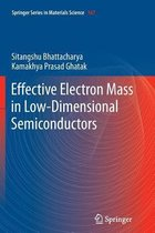 Effective Electron Mass in Low-Dimensional Semiconductors