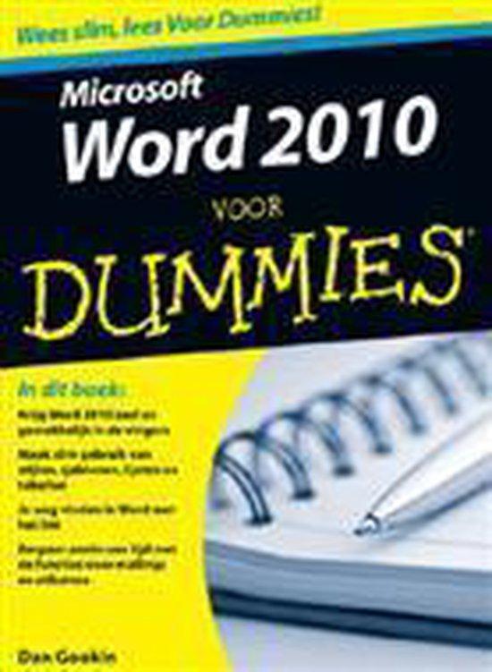 Word 2010 Voor Dummies - Dan Gookin   Readingchampions.org.uk