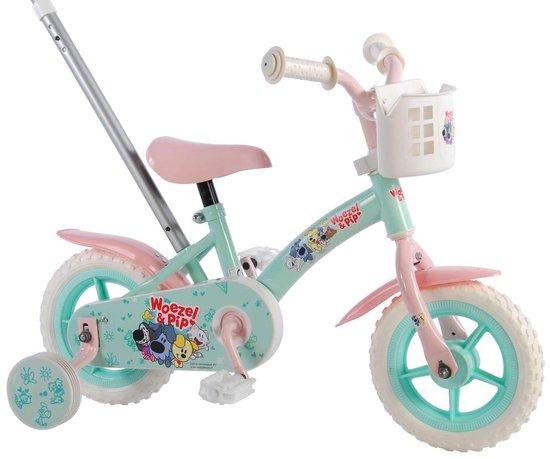 Woezel & Pip Kinderfiets - Meisjes - 10 inch - Mint Blauw/Roze