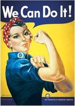 We can Do It poster Rosie the Riveter  61x91.5cm.