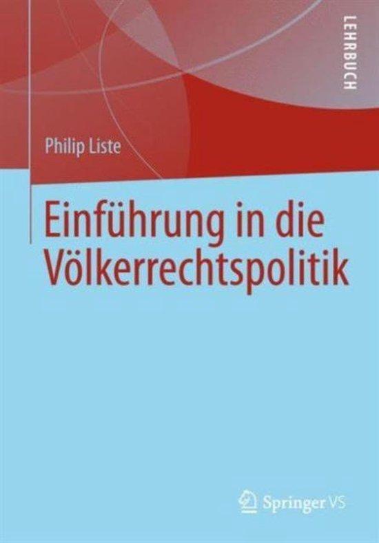 Boek cover Einfuhrung in Die Voelkerrechtspolitik van Philip Liste (Paperback)