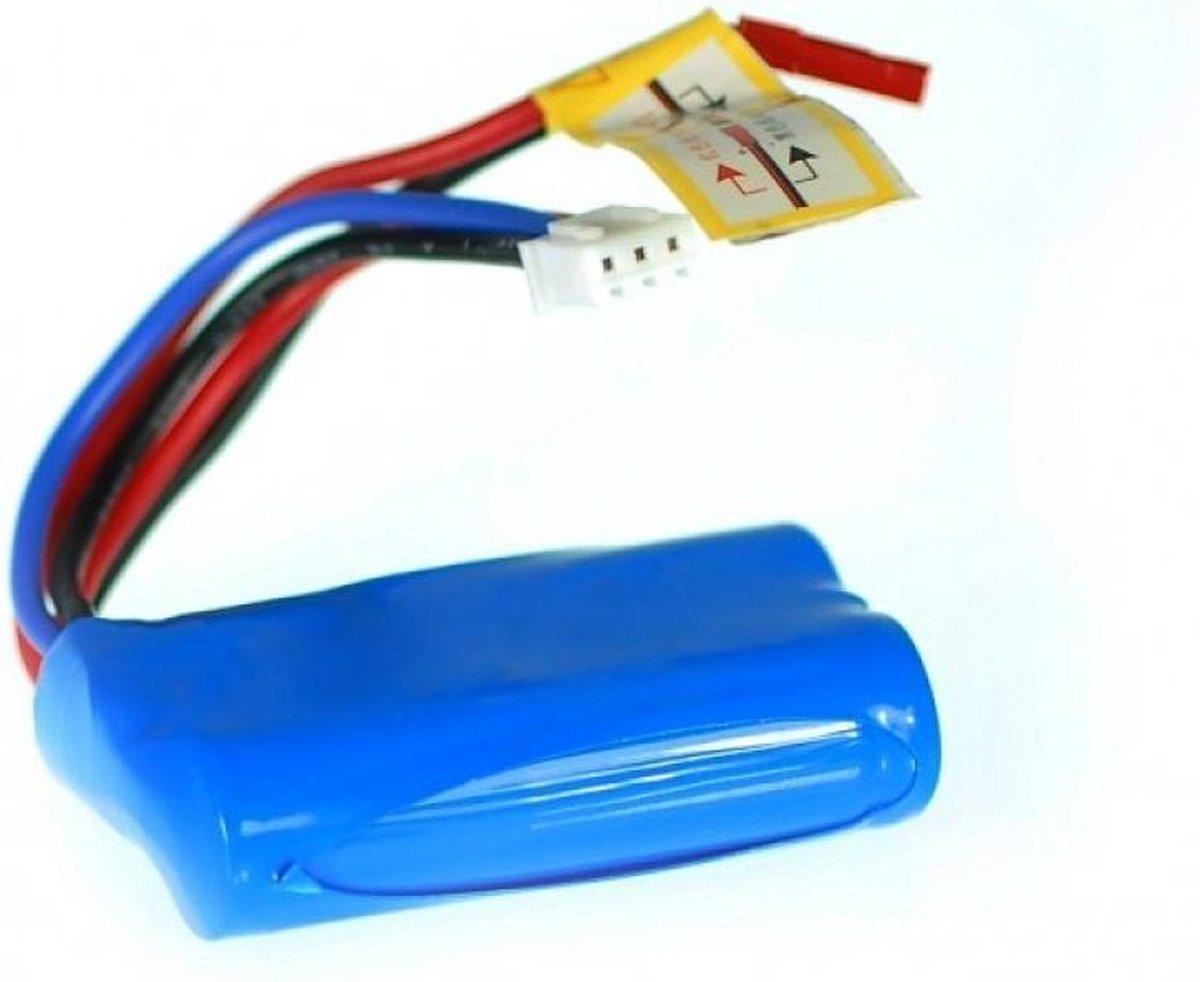 Accu 7.4V 850 mAh Blauw met Rode Plug - Matin