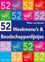 Boek cover 52 weekmenus en boodschappenlijstjes van W. van Hoeven