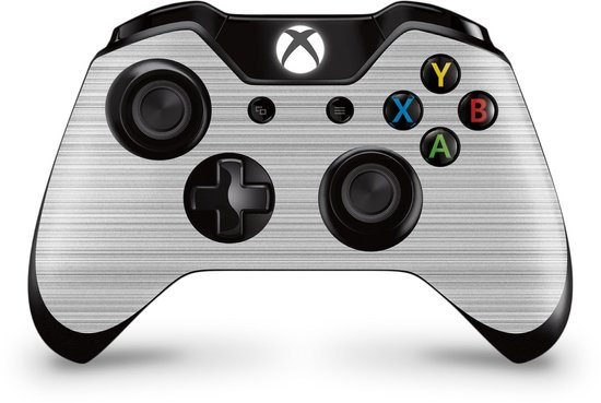 Xbox One Controller Skin Brushed Wit Sticker