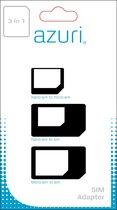 Azuri simcard adapter 3 in 1 (SIM - MICROSIM - NANOSIM)