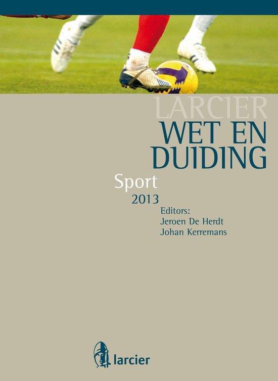 Larcier Duiding - Wet & Duiding Sport - Jürgen Vanpraet |