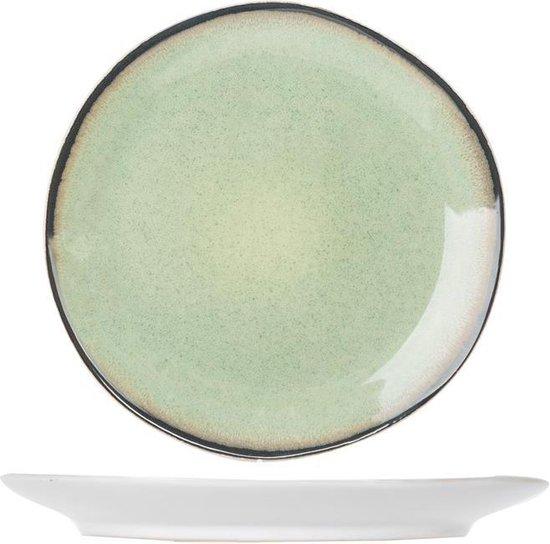 Cosy & Trendy Fez Green Dessertbord - Ø 22.5 cm - 6 Stuks