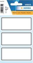 Huismerk Herma 5711 Etiket Schrift Kader 36x80mm Grijs/Wit - 1Pakje met 6 velletjes stickers