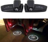 2 STKS Intelligente Inductie HD Projectie Autodeur Welkom Lamp Display Logo voor Land Rover (zwart)