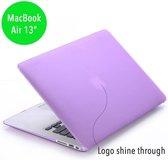hardcase hoes - MacBook Air 13 inch (2010-2017) - mat paars