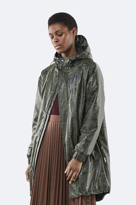 Rains Long Quilted Parka 1516 Jas - 41 Oil Camo