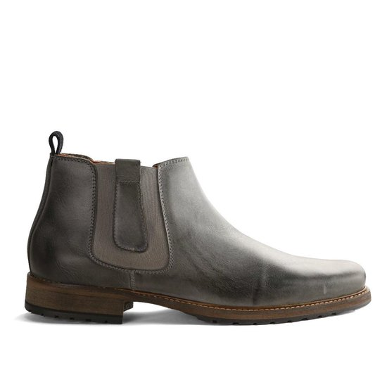 Travelin London Chelsea - Nette Leren Chelsea Boots - Heren - Lichtgrijs - Maat 48
