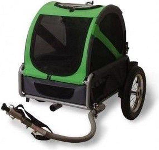 Doggy Ride - Fietskar - Mini trailer - Groen/Grijs