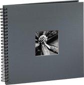 Hama Fine Art spiraal grijs 36x32 50 zwarte pagina's 94874