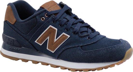 New Balance 574 Classics Traditionnels Sportschoenen - Maat 44.5 - Mannen -  blauw/bruin/wit