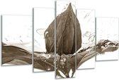 Glas schilderij Bloem | Sepia | 170x100cm 5Luik | Foto print op Glas |  F006637