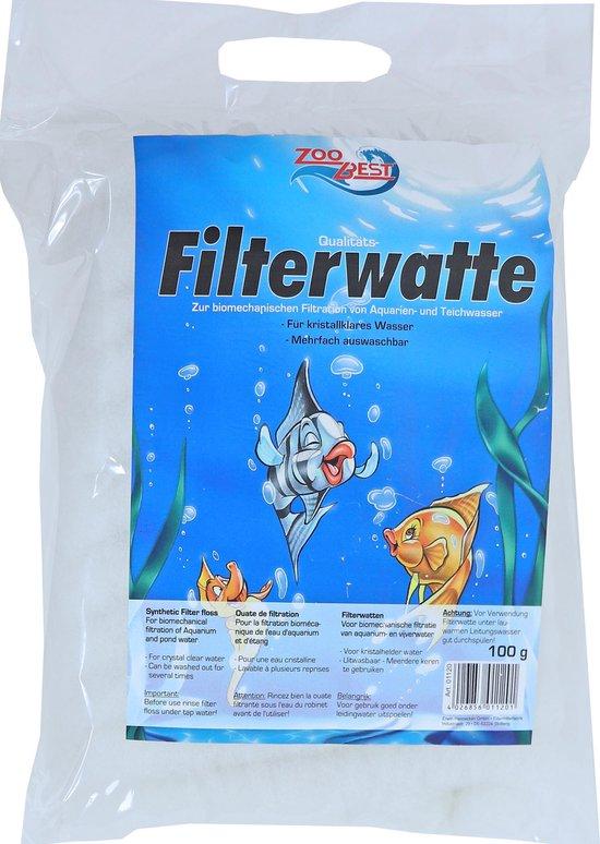 Zoobest filterwatten wit, 100 gram.