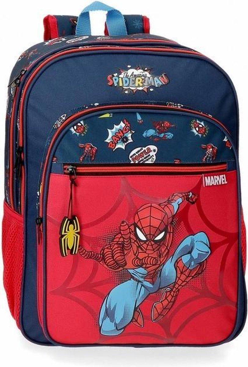 Marvel Trolley Rugzak Spiderman 30 X 40 X 13 Cm Rood/blauw
