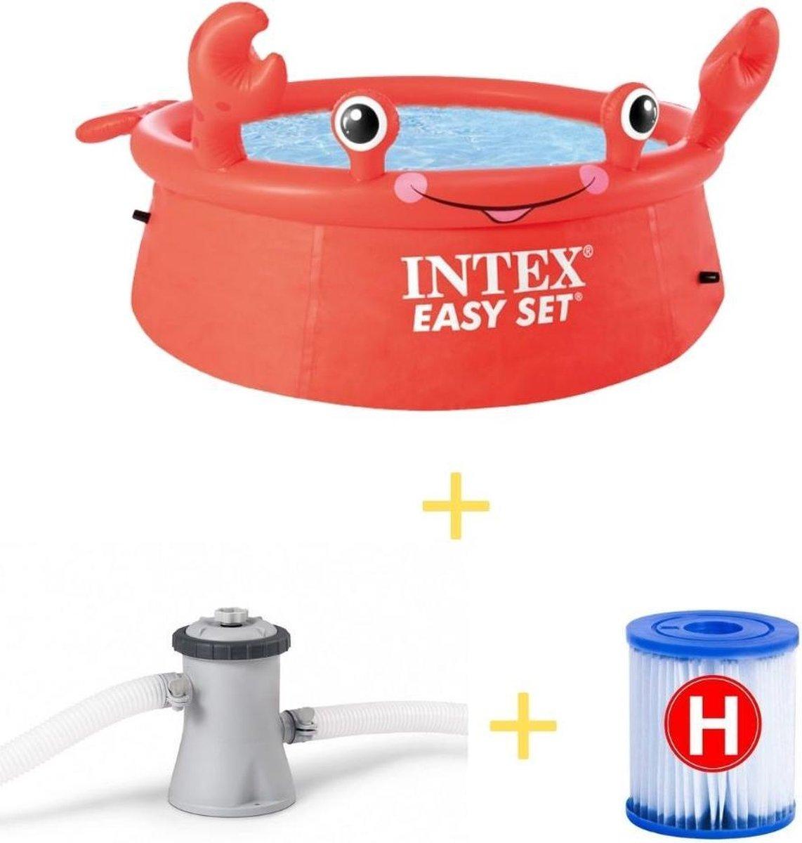 Intex Zwembad - Easy Set - 183 cm - Krab editie - Inclusief Filterpomp & Filter