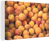 Hoop oranje abrikozen Canvas 90x60 cm - Foto print op Canvas schilderij (Wanddecoratie woonkamer / slaapkamer)