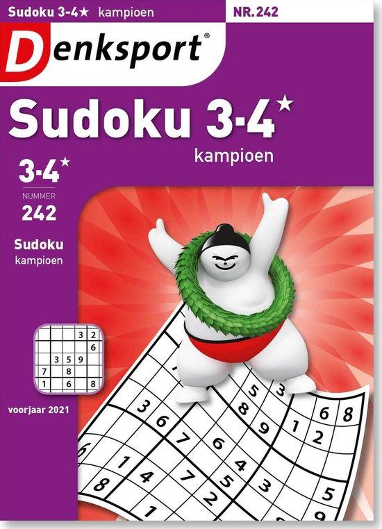 Afbeelding van Denksport Puzzelboek, Sudoku 3-4* kampioen, editie 242