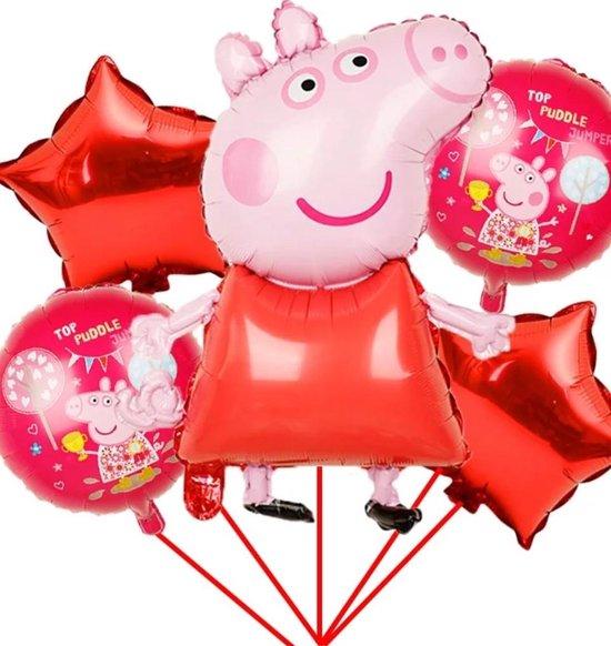 Ballonboeket Peppa pig, ballonnenset 5 delig Kindercrea