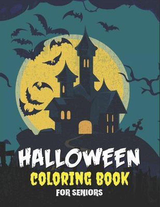 Halloween Coloring Book for Seniors