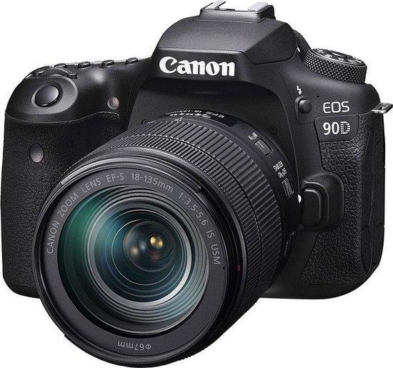 Canon EOS 90D + EF-S 18-135mm f/3.5-5.6 IS USM - Zwart