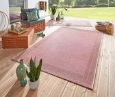 Binnen & Buiten vloerkleed vlakweef Ocean - roze 160x230 cm