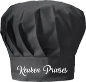 mijncadeautje - koksmuts volwassenen - zwart - Keukenprinses