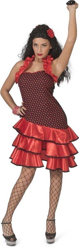 Spaans & Mexicaans Kostuum | Cassandra Castagnetta Flamenco Danseres | Vrouw | Maat 44-46 | Carnaval kostuum | Verkleedkleding