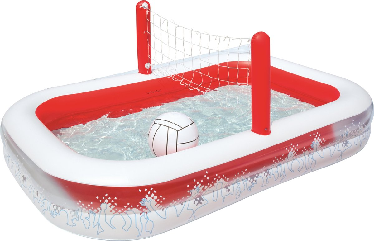 Bestway Speelzwembad Volleybal Rood - 254x168x97 cm