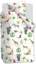 Beddinghouse Savanna Friends - Dekbedovertrek - eenpersoons - 140x200/220 cm - Multi