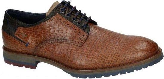 Fluchos -Heren -  cognac/caramel - geklede lage schoenen - maat 39
