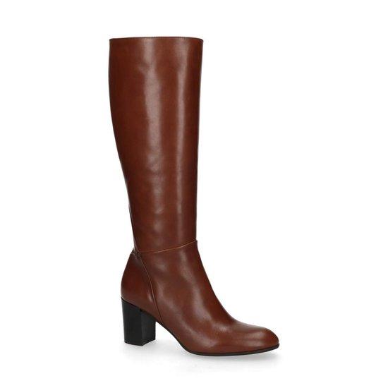 | Manfield Dames Bruine leren hoge laarzen met