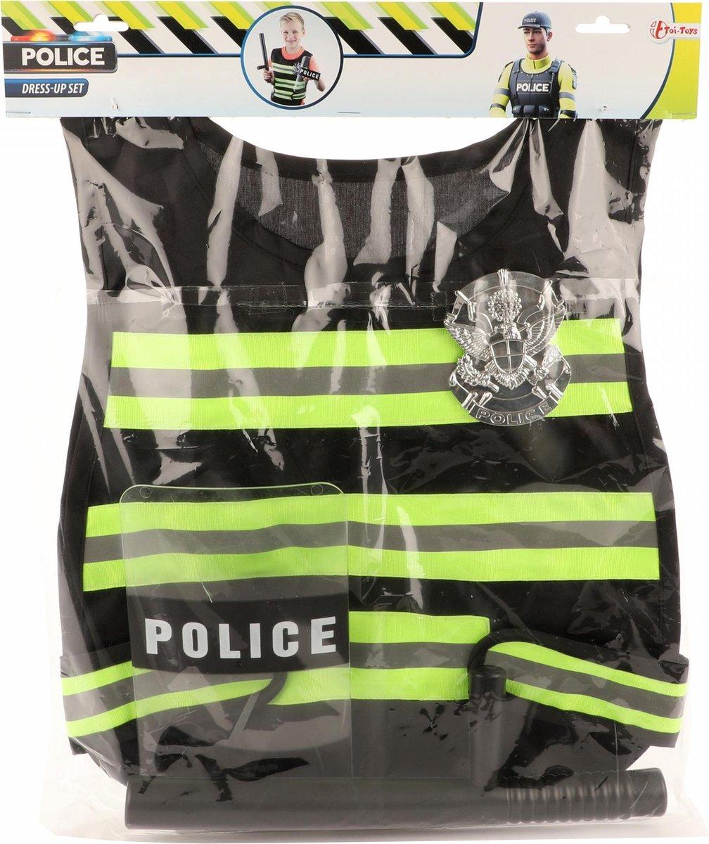Toi-toys Politieset Zwart/geel 38 Cm