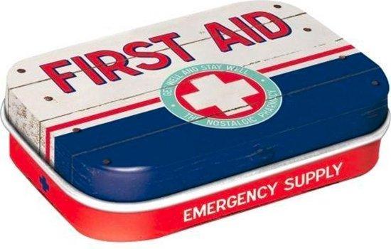 First Aid - Pepermunt - Metalen Blikje - Mint Box