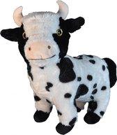 Pluche staande koe knuffel 28 cm - Boerderijdieren koeien knuffels - Speelgoed voor kinderen