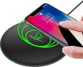 MMOBIEL Draadloze QI Oplader - Snelle Laadmodus - 5W / 7.5W / 10W - ZWART - voor iPhone / Samsung / Airpods / QI geschikte Smartphones