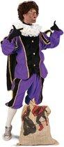Luxe Piet kinder pak paars - maat 104 + GRATIS PROFESSIONELE SCHMINK - pietenpak kostuum goud zwart Sinterklaas festival